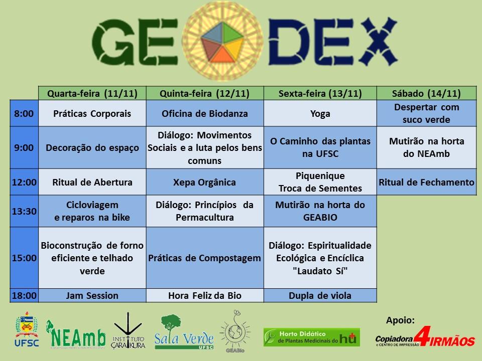 GEODEX-programação-2015